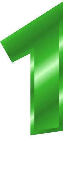 Green Mba Number 1 by Green Metal Number 1 Signs Symbol Alphabets Numbers