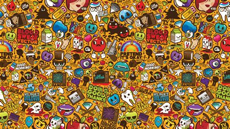 wall paper sticker wallpapers sticker bomb hd ajilbab portal 1920x1080