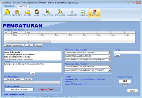 Software Pembukuan Toko Kebutuhan Hewan Toko 1d software toko terbaru