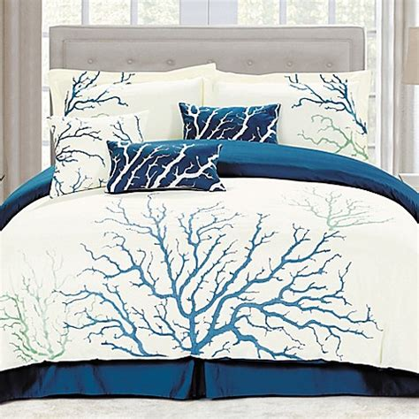 coral king bedding buy panama jack coral king comforter set in blue from bed bath beyond