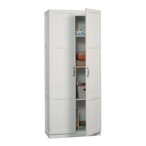 sauder white storage cabinet sauder select storage cabinet in white 419636