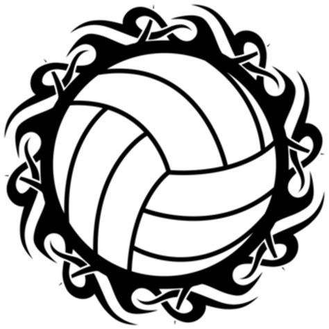 printable volleyball volleyball tribal blk wht free images at clker com