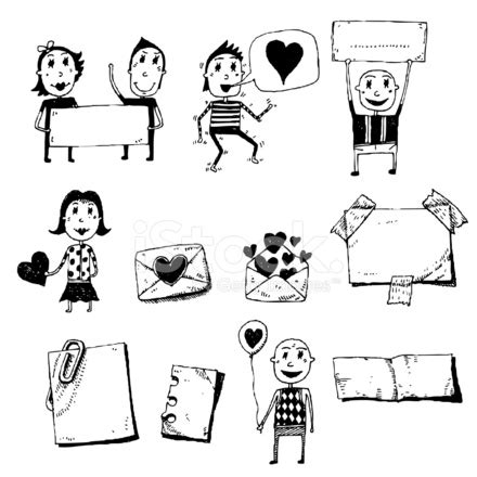 how to use doodle message doodle set messages stock photos freeimages