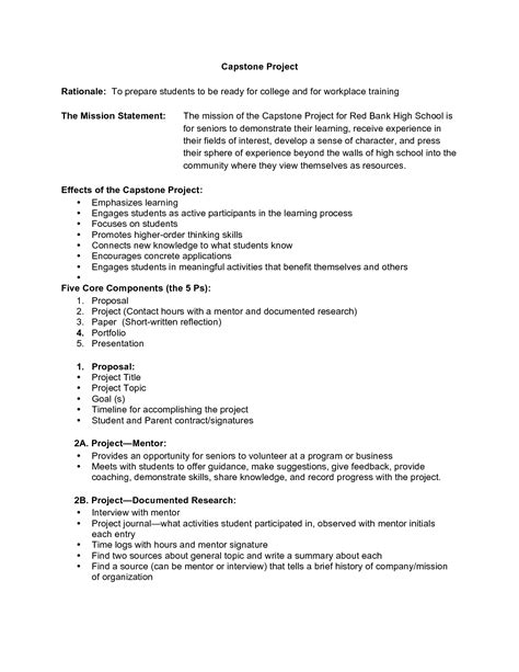 capstone project template college essays college application essays capstone