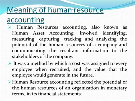 Mba Hr Means by Human Resource Accounting And Social Accounting