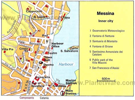 messina map 10 top tourist attractions in messina planetware