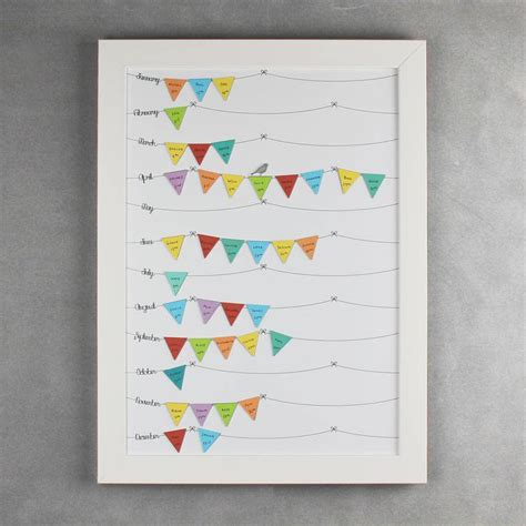 birthday reminder calendar template framed birthday reminder calendar beautiful bunting