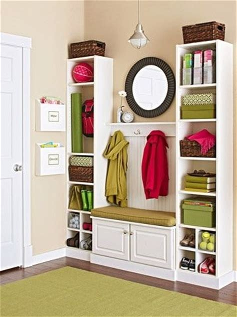 small entry storage solutions by krista house pinterest