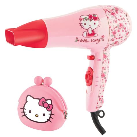 Hello 2000w Hair Dryer Gift Set Black hello flora design pink hair dryer styler