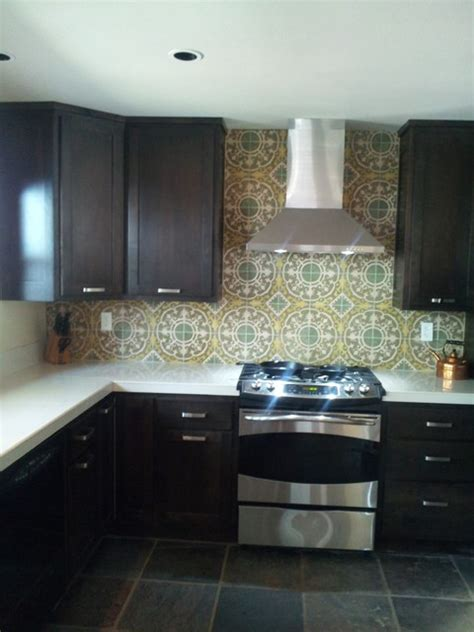 cuban tiles make an eye catching backsplash modern