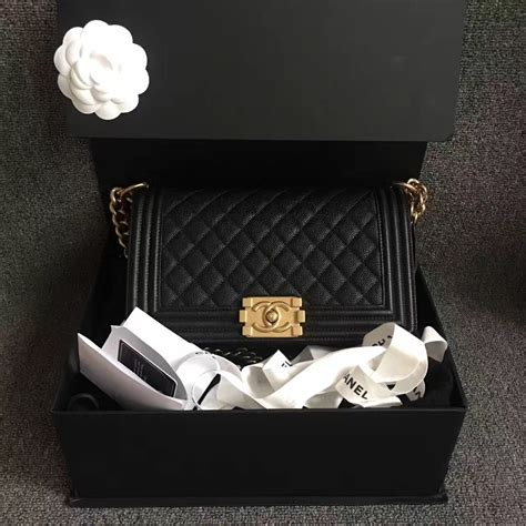 Chanel Boy Caviar Include Box 9003 authentic new chanel 2017 le boy black caviar medium flap