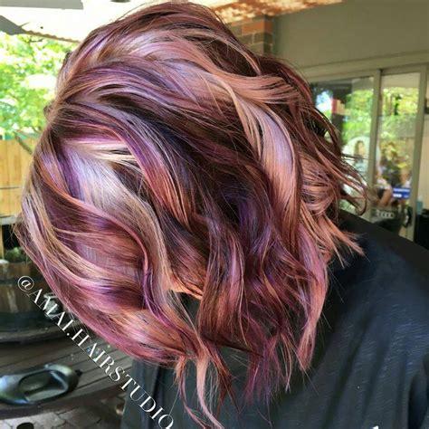 Plumb Colour Hairstyles   chocolate vanilla and plum pinteres