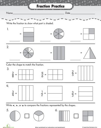 Fractions Review Worksheet by New 875 Fraction Worksheet Review Fraction Worksheet