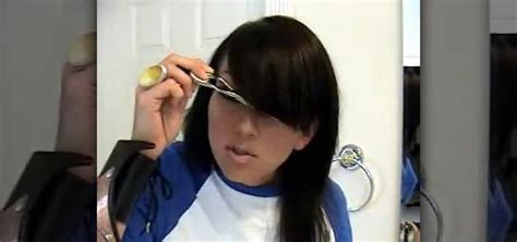 how to trim sides of hair how to cut side swept fringe bangs 171 hairstyling