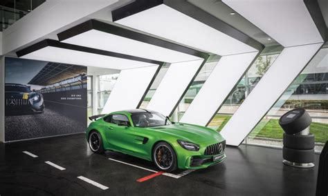 mercedes showroom mercedes amg showroom in affalterbach gets redesigned