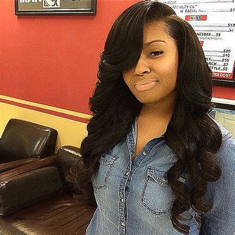 side parting weavon styles pictures black weave hairstyles with side part hairstyles