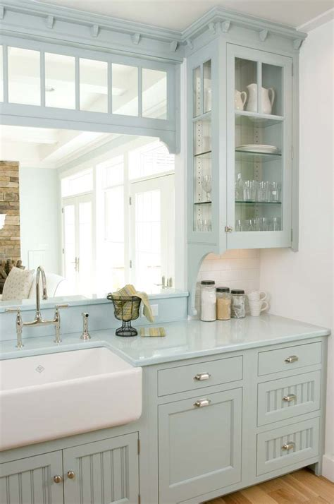 kitchen cabinets painted gray cottage kitchen 23 gorgeous blue kitchen cabinet ideas
