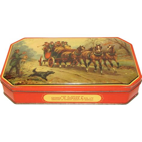 backroom stage couch vintage george horner toffee tin stage coach from tomjudy