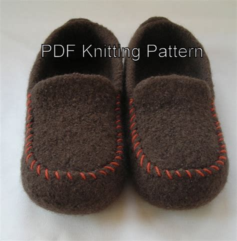 knitted moccasin slippers pattern knitting patterns for in the loop knitting