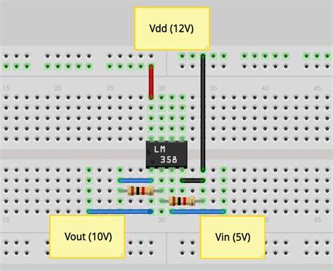 educator making   inverting op amp circuit