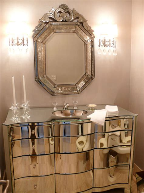 Chic Bathrooms With Venetian Mirrors Design Limited Edition Venetian Bathroom Mirrors