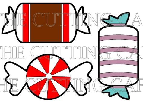 the cutting cafe candy shaped cards