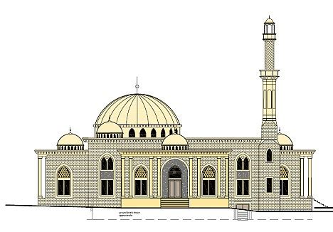 masjid member design plans to build giant mosque next to sandhurst scrapped