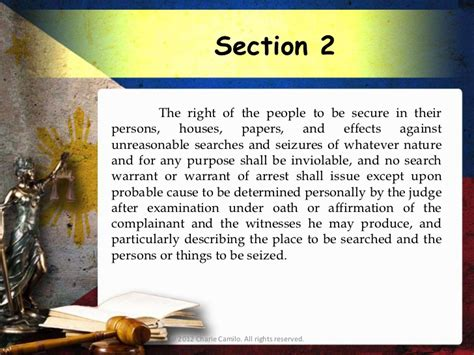article 3 section 2 of the constitution philippine constitution 1987 article 3 bill of rights
