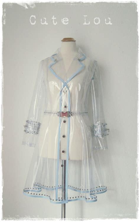 vinyl raincoat pattern transparent raincoat based on a trenchcoat sewing