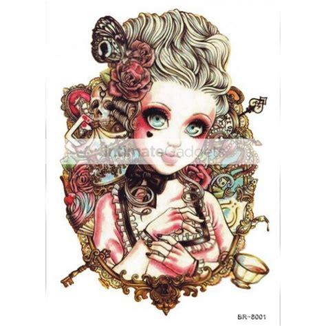 nipple tattoo stickers european style fashion sd big eyes doll temporary tattoo