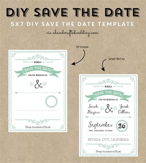 diy save the date card for magnets template free printable wedding invitation template wedding
