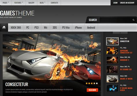 16 Best Gaming Html5 Templates Free Website Themes Gaming Website Template Html5 Free
