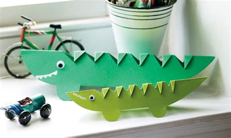 crocodile crafts for cheeky crocodile paper craft metro parent
