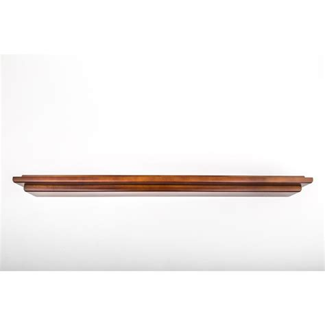 Mahogany Floating Shelf by Woodform 48 In W X 2 5 In D Mahogany Mantle Floating Wall Shelf 444 17 The Home Depot