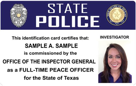 the police and sheriffs press custom photo id card