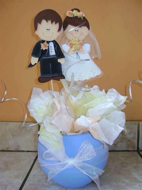 arreglos de boda para mesa hechos de foami imagui