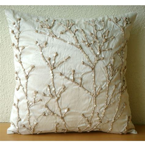 Luxury Sofa Pillows Luxury Ivory Throw Pillows Cover For 16x16