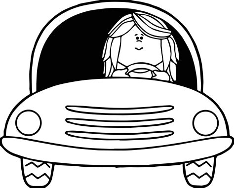 girl car coloring page girl driving car coloring page wecoloringpage