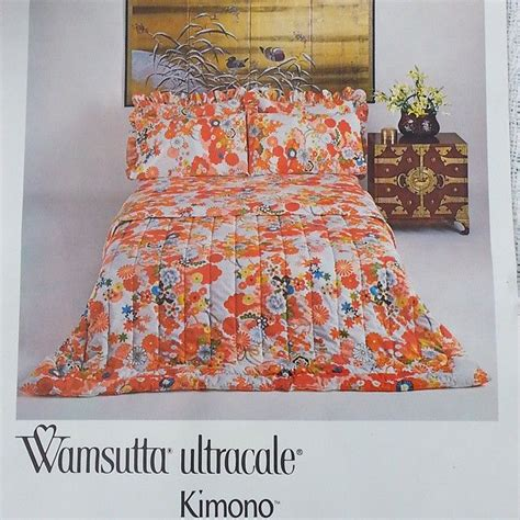 kimono pattern bedding offering a vintage bedding set by wamsutta ultracale in