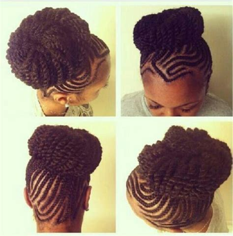cornrowed bun cornrow twist bun my natural girl pinterest cornrow