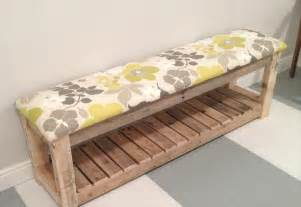 how to make a padded bench seat diy reclaimed wood pallet bench mudroom bench 99 pallets