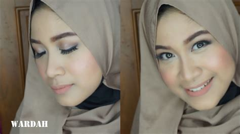 tutorial makeup natural muslimah wardah tutorial make up natural hijab wardah saubhaya makeup