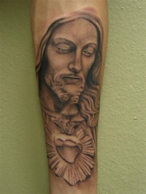 tattoos sacred heart tattoos tattoos portrait