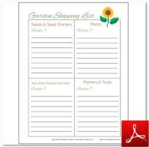 theme garden list garden printables free charts planners plus activities
