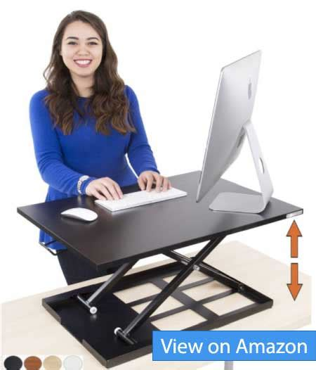 sit stand desk reviews 2017 best desk risers and stands for laptops and monitors 2018