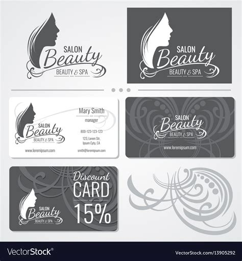 cosmetology business card templates free salon business card templates with vector image