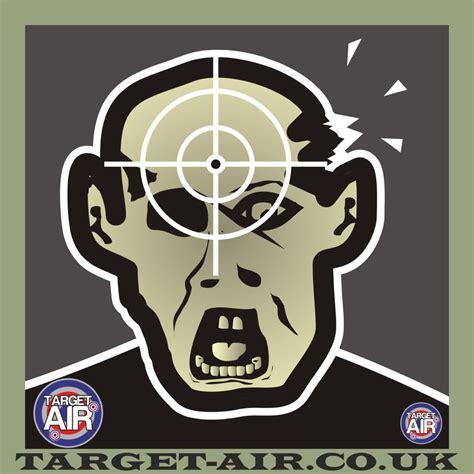 printable zombie air rifle targets zombie black head airgun rimfire shooting targets