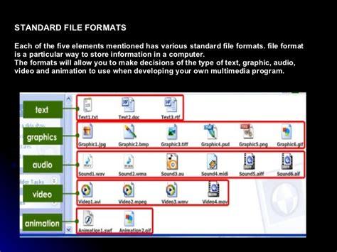 audio file format standard multimedia element