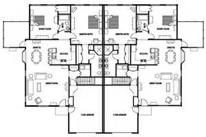 Fourplex Floor Plans Duplex Floor Plans With Garage Duplex First Floor
