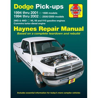 small engine service manuals 1996 dodge ram 2500 club electronic valve timing haynes repair manual new ram truck dodge 1500 2500 3500 1994 1996 30041 ebay